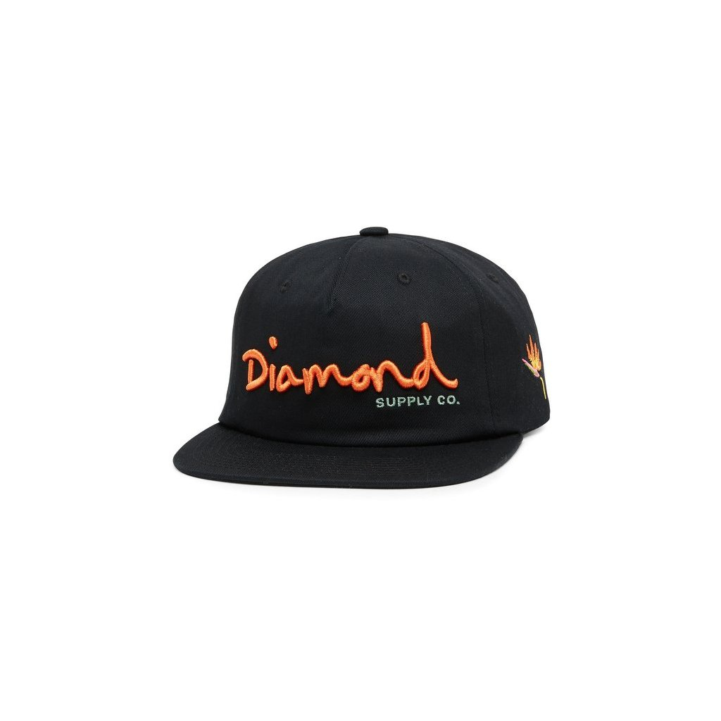 cappellini diamond supply og script snapback black 189311 674 1