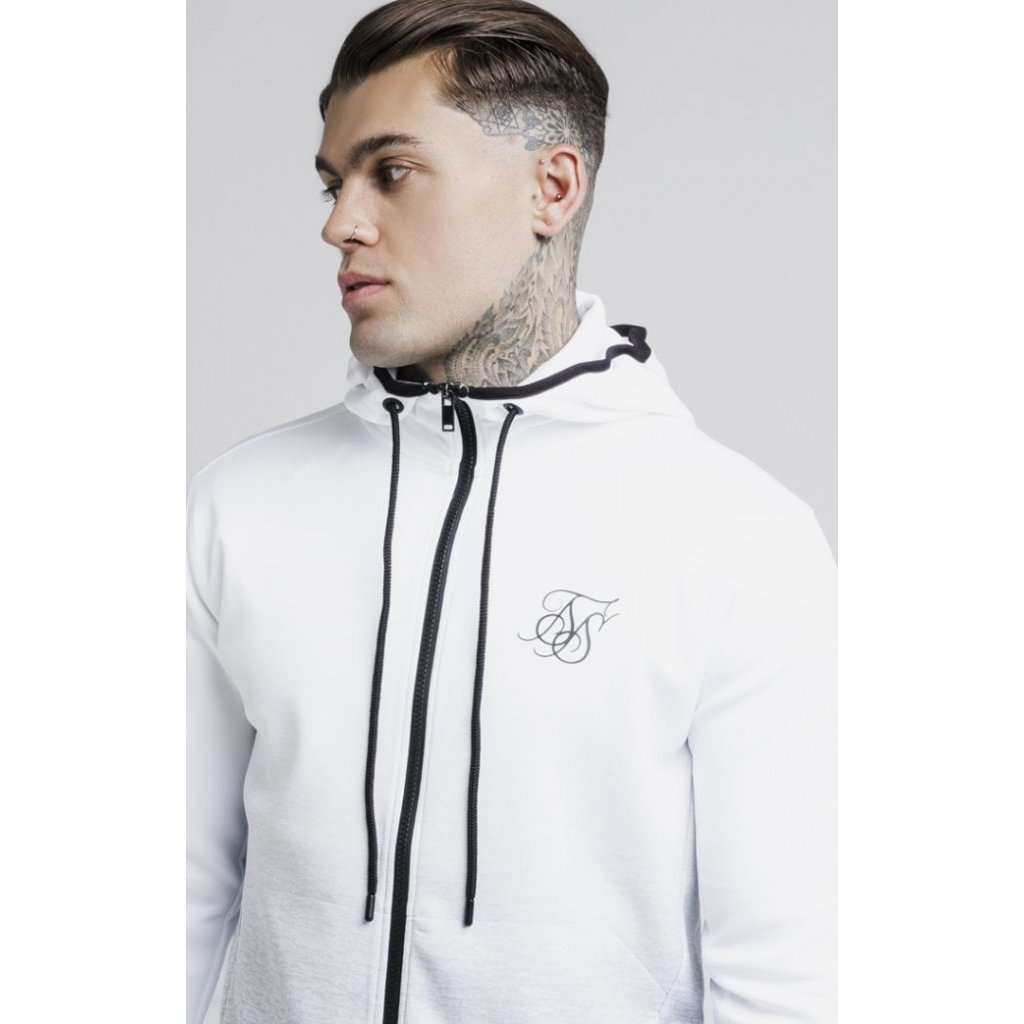 siksilk agility printed hoodie grey marl p3075 25695 medium