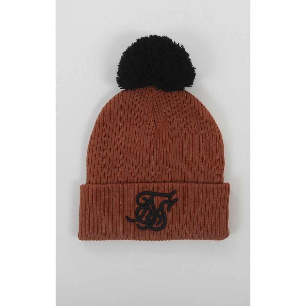 siksilk ribbed cuff knit beanie rust p2312 20222 medium