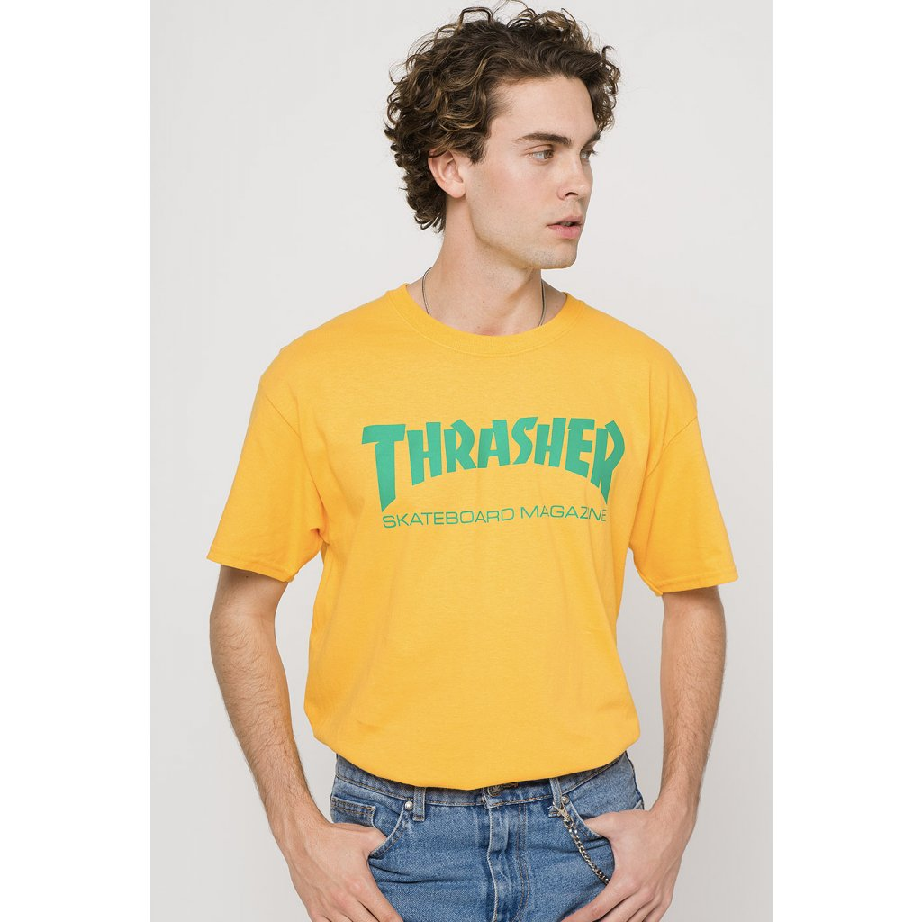 Thrasher Skate Mag Yellow T Shirt 290797 front US