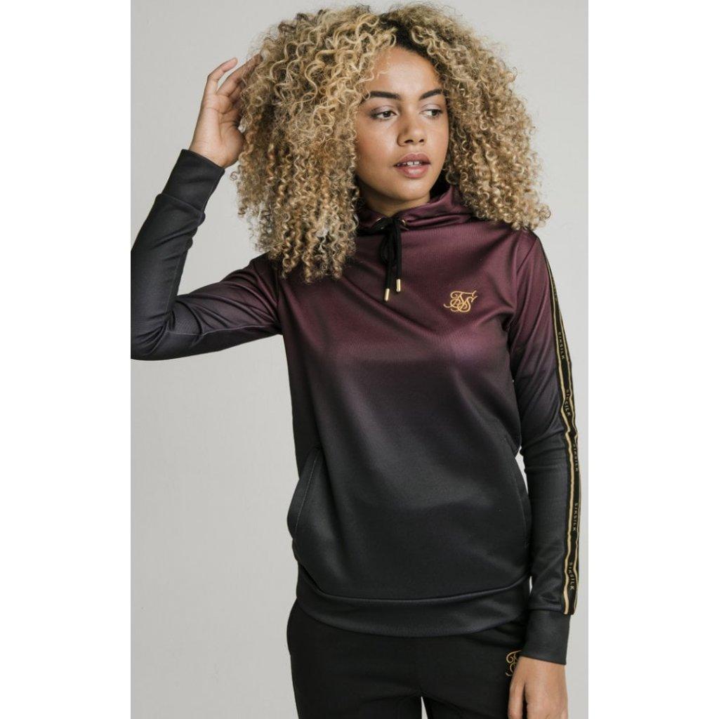 siksilk fade overhead track top burgundy black p4117 38472 medium