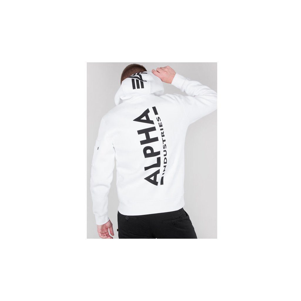 Pánska mikina Alpha Industries Back Print Hoody White
