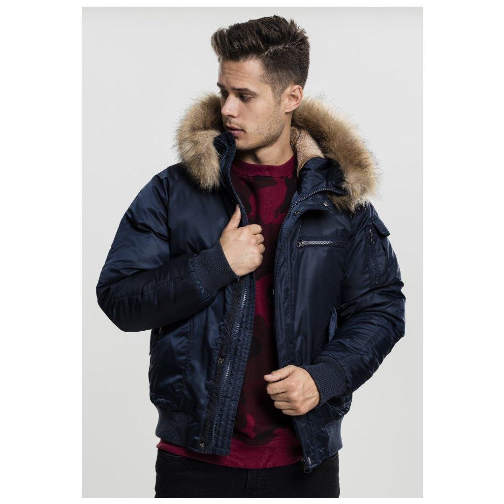 Pánska zimná bunda Urban Classics Hooded Heavy Fake Fur ... 6a560274ae1