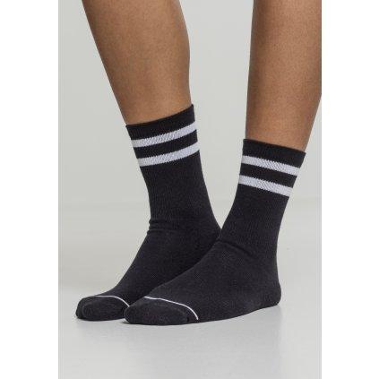 Pánske ponožky 2-Tone College Socks 2 balenie čierno/biele (42-46 43-46)