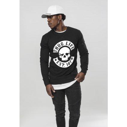 Pánska mikina Thug Life Skull Crewneck black (Veľkosť XXL)