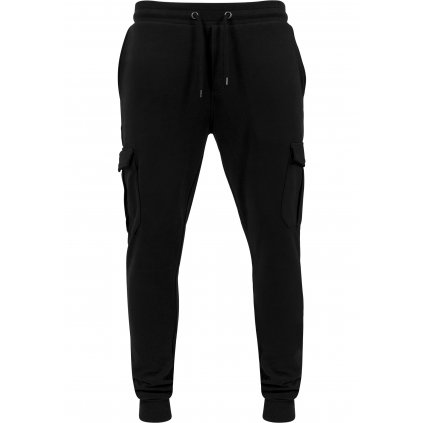 urban classics fitted cargo sweatpants black 29096