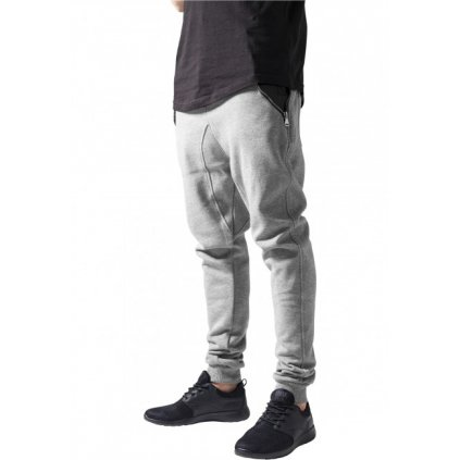 urban classics side zip leather pocket sweatpant gryblk 30620