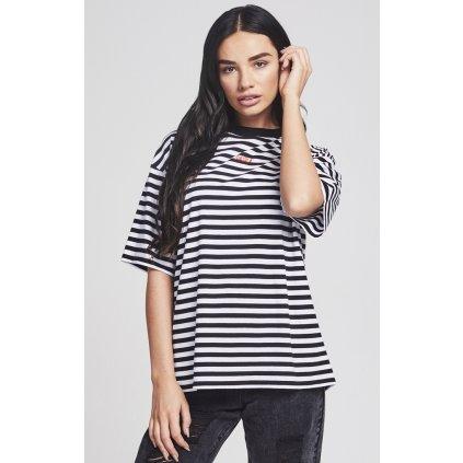 Dámske čiernobiele tričko s krátkym rukávom Sik Silk Retro