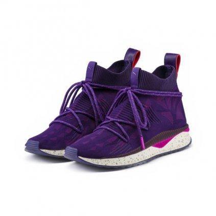 Dámske tenisky Puma Tsugi Evoknit Sock Naturel Italian Plum Prism Violet (Veľkosť 37)