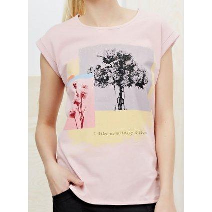 Tričko Moodo L-TS-2012 l.pink XL (Veľkosť XS)