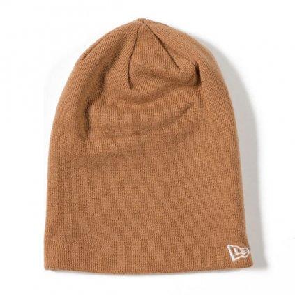 Pánska zimná čiapka New Era MLB Esential Long Cuff NE Knit Brown - UNI