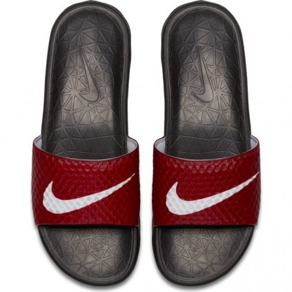 nike benassi solarsoft soccer sandals red 60454
