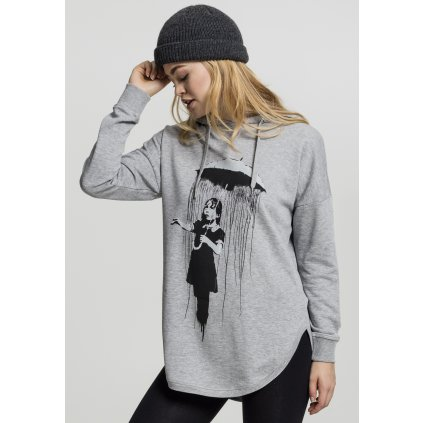 Dámska mikina Ladies Banksy Umbrella Oversized Hoody