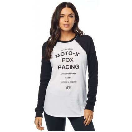 Dámske tričko s dlhým rukávom Fox Phased Raglan black