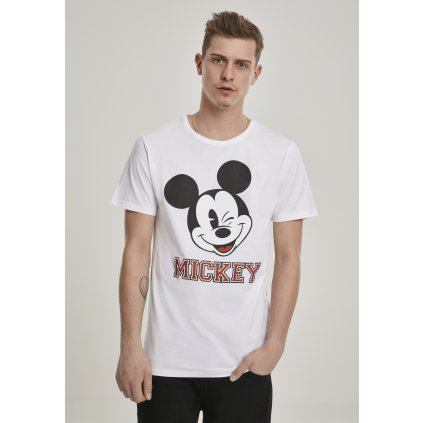 Pánske tričko MERCHCODE Mickey College Tee