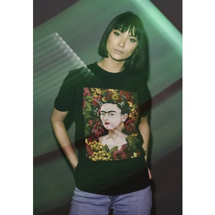 Ladies Frida Kahlo Portrait Tee