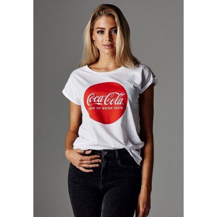 Dámske tričko Merchocode Ladies Coca Cola Round Logo Tee