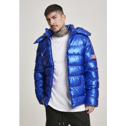Pánska zimná bunda MR.TEE NASA Insignia Metallic Puffer Jacket