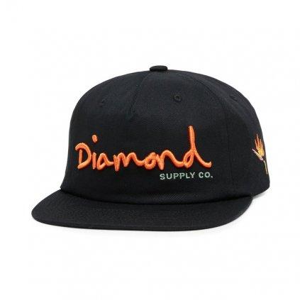 cappellini diamond supply og script snapback black 189311 674 1