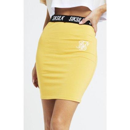siksilk siksillk elastic waist tube skirt mustard p2943 25733 medium