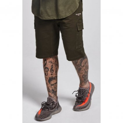 illusive london utility shorts forest green p337 2006 zoom