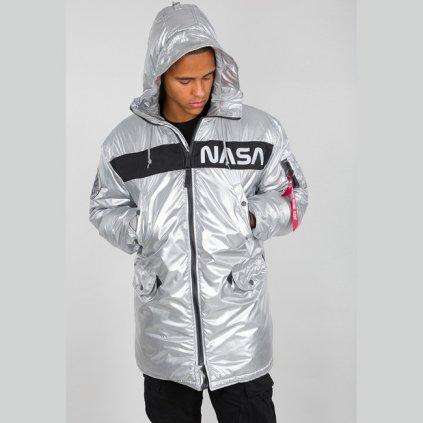 alpha industries n 3b nasa jacket silver 69797