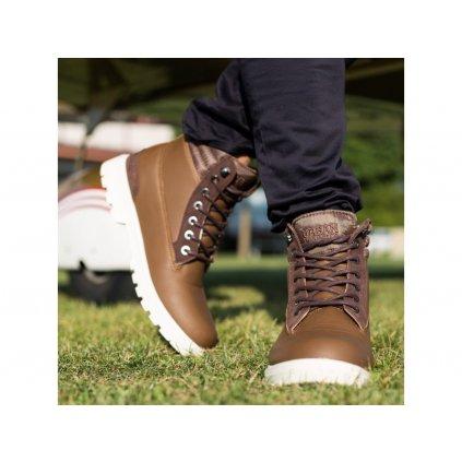 Dámska zimná obuv URBAN CLASSICS Winter Boots brown/darkbrown