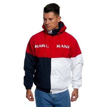 jacket karl kani retro block windbreaker redblackwhite 69710