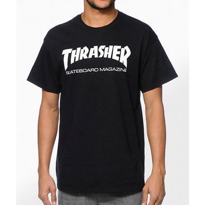 Thrasher Skate Mag Black T Shirt 230118 front US