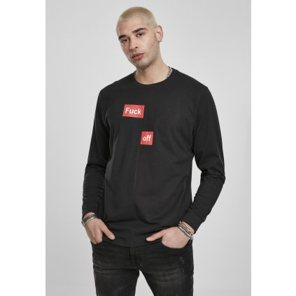 Pánske tričko s dlhým rukávom MR.TEE Fuck Off Split Longsleeve black