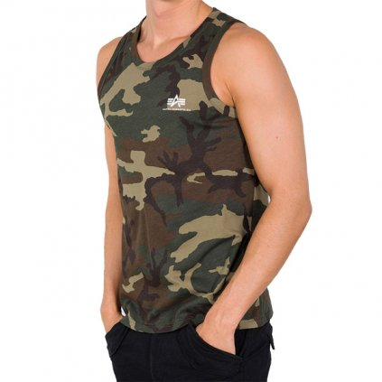 Pánske tielko Alpha Industries Small logo Tank Top Wood Camo