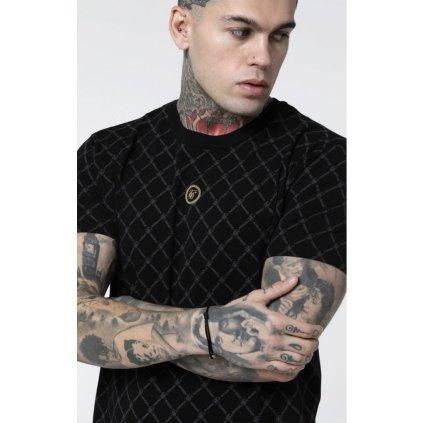 siksilk reverse collar tee black p3494 31904 medium