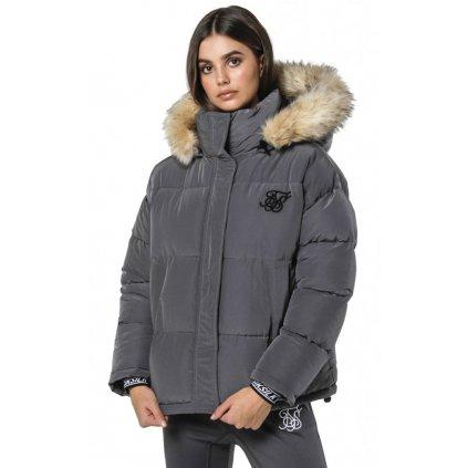 siksilk short parka jacket charcoal p3816 33841 medium