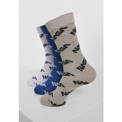 Ponožky MR.TEE NASA Allover Socks 3-Pack