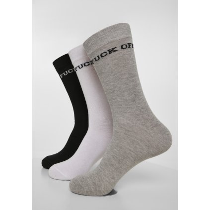 Ponožky MR.TEE Fuck Off Socks 3-Pack
