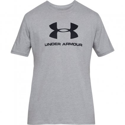 Pánske tričko Under Armour Sportstyle Logo SS Gry Light Heather