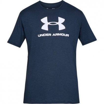 Pánske tričko Under Armour Sportstyle Logo Navy Academy
