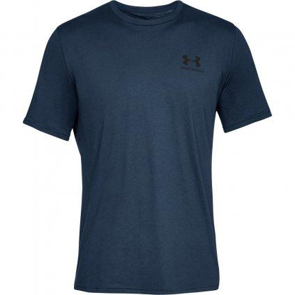 Pánske tričko Under Armour Sportstyle Left Chest Navy Academy