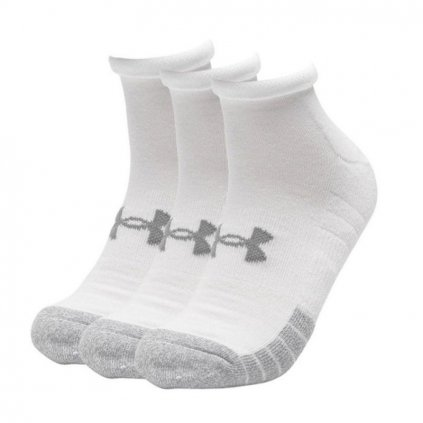 Ponožky Under Armour Heatgear Locut White Sock 3-Pack