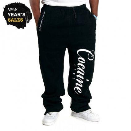 cocaine life basic logo sweatpants black 10395