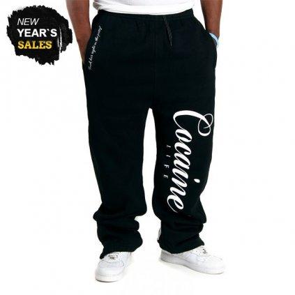 cocaine life basic logo sweatpants black 10395