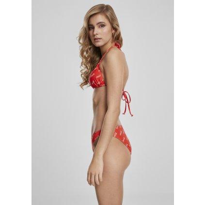 Dámske plavky MERCHCODE Ladies Coca Cola Logo AOP Bikini