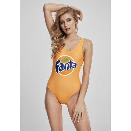 Dámske plavky MERCHCODE Ladies Fanta Logo Swimsuit