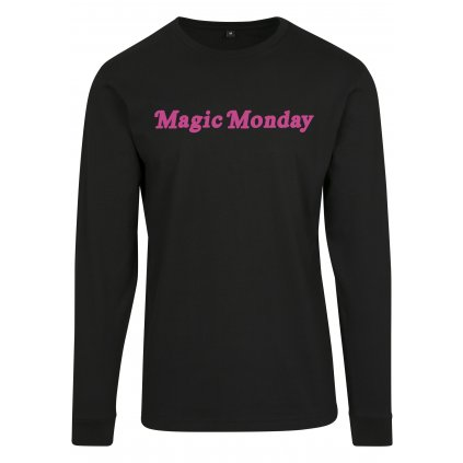 Dámske tričko MR.TEE Ladies Magic Monday Slogan Longsleeve