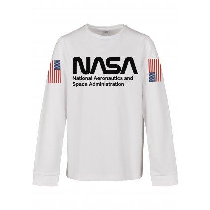 Detská mikina MR.TEE Kids NASA Worm Longsleeve white