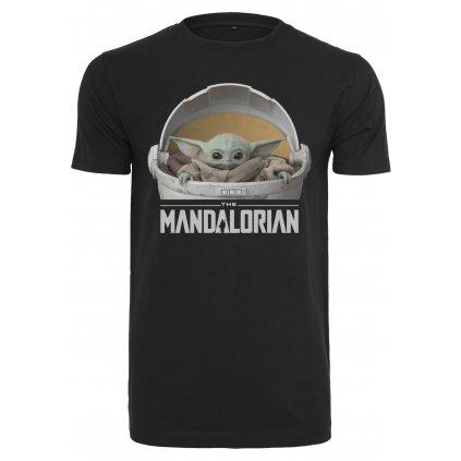 Pánske tričko MR.TEE Baby Yoda Mandalorian Logo Tee