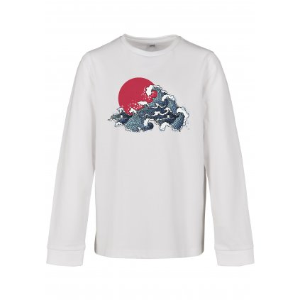 Detské tričko s dlhým rukávom MR.TEE Kids Japan Waves Longsleeve