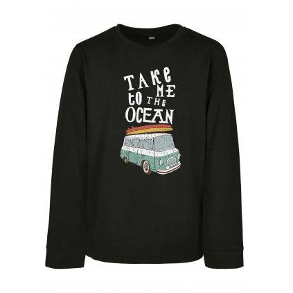 Detské tričko s dlhým rukávom MR.TEE Kids Take Me To The Ocean Longsleeve