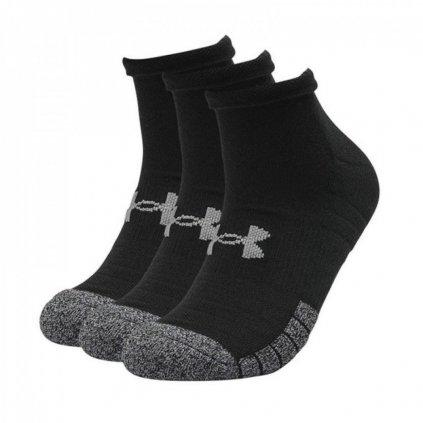 Ponožky Under Armour Heatgear Locut Black Sock 3-balenie