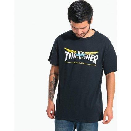 Pánske tričko Thrasher Venture Collab S/S black